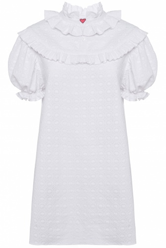 Mini Cotton Broderie Anglaise Dress V